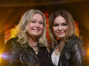 Anita med datter Kaja på tysk TV